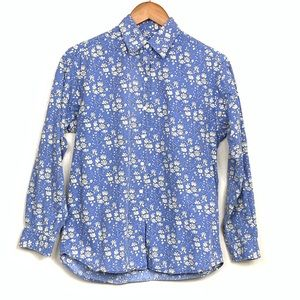 Brooks Brothers Floral Button Front Shirt Sz Small